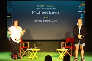 5. Emma Banks interviews Michael Eavis at IFF 2017